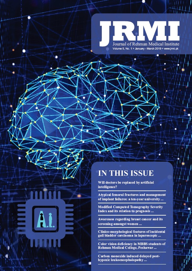 View Vol. 5 No. 1 (2019): Journal of Rehman Medical Institute