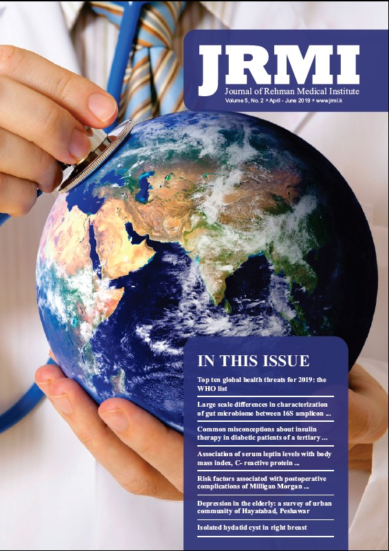 View Vol. 5 No. 2 (2019): Journal of Rehman Medical Institute