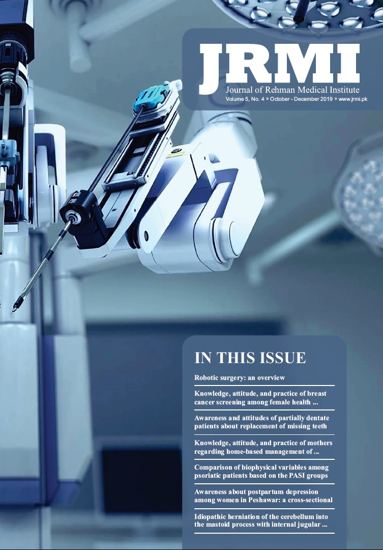 View Vol. 5 No. 4 (2019): Journal of Rehman Medical Institute