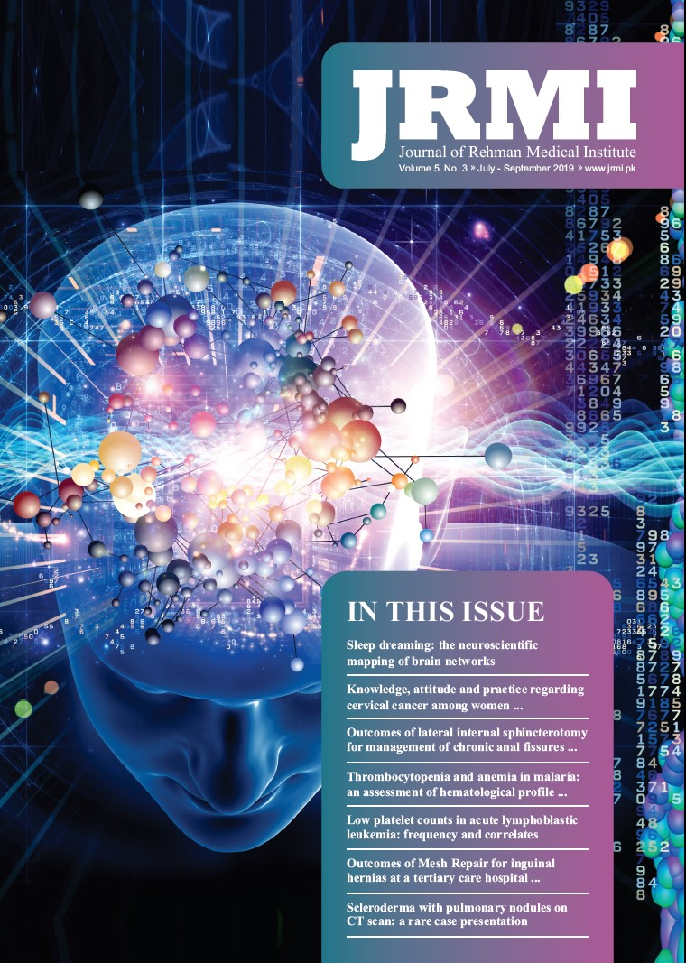View Vol. 5 No. 3 (2019): Journal of Rehman Medical Institute