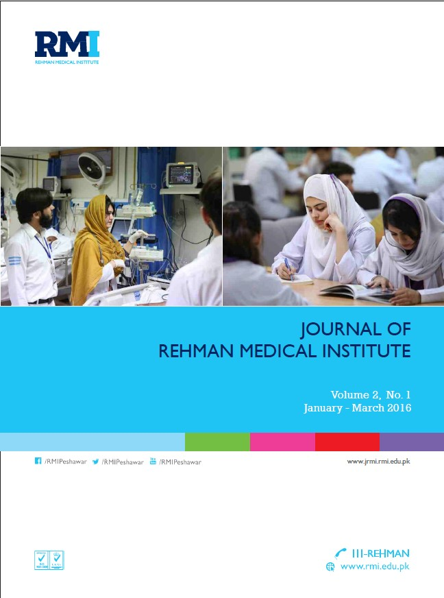 View Vol. 2 No. 1 (2016): Journal of Rehman Medical Institute