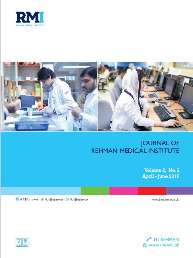 View Vol. 2 No. 4 (2016): Journal of Rehman Medical Institute